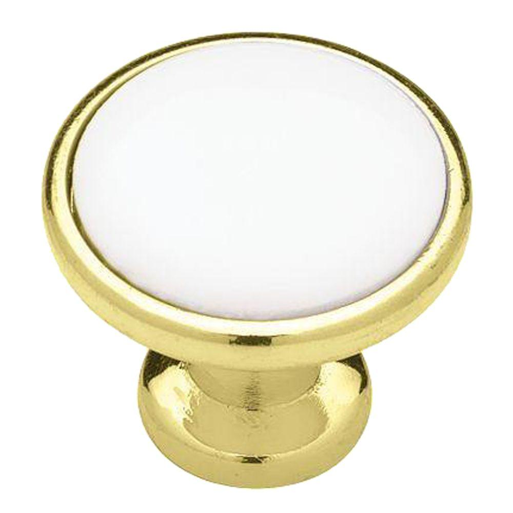 (31 Mm) Polished Brass With White