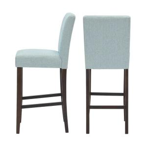 Fabulous Stylewell Banford Sable Brown Wood Upholstered Bar Stool Beatyapartments Chair Design Images Beatyapartmentscom