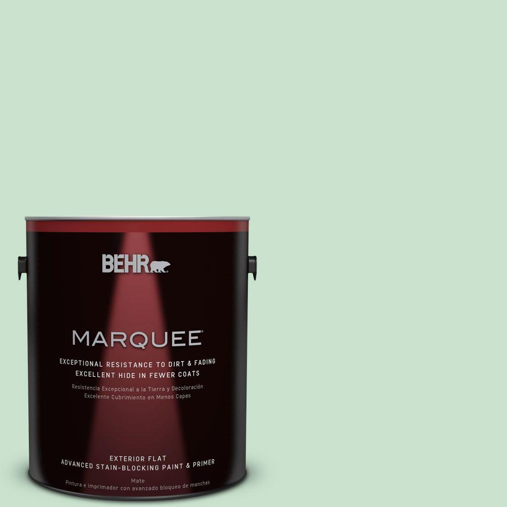 1-gal. #M410-2 Wishful Green Flat Exterior Paint