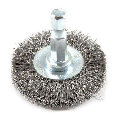 1-1/2 in. x 1/4 in. Hex Shank Fine Crimped Wire Wheel Brush