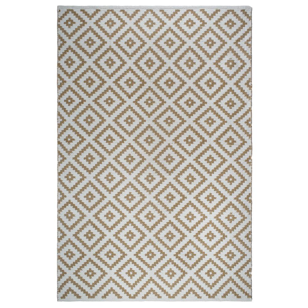 Fab Habitat Chanler Kilim Indoor Outdoor Almond And White 5 Ft X 8