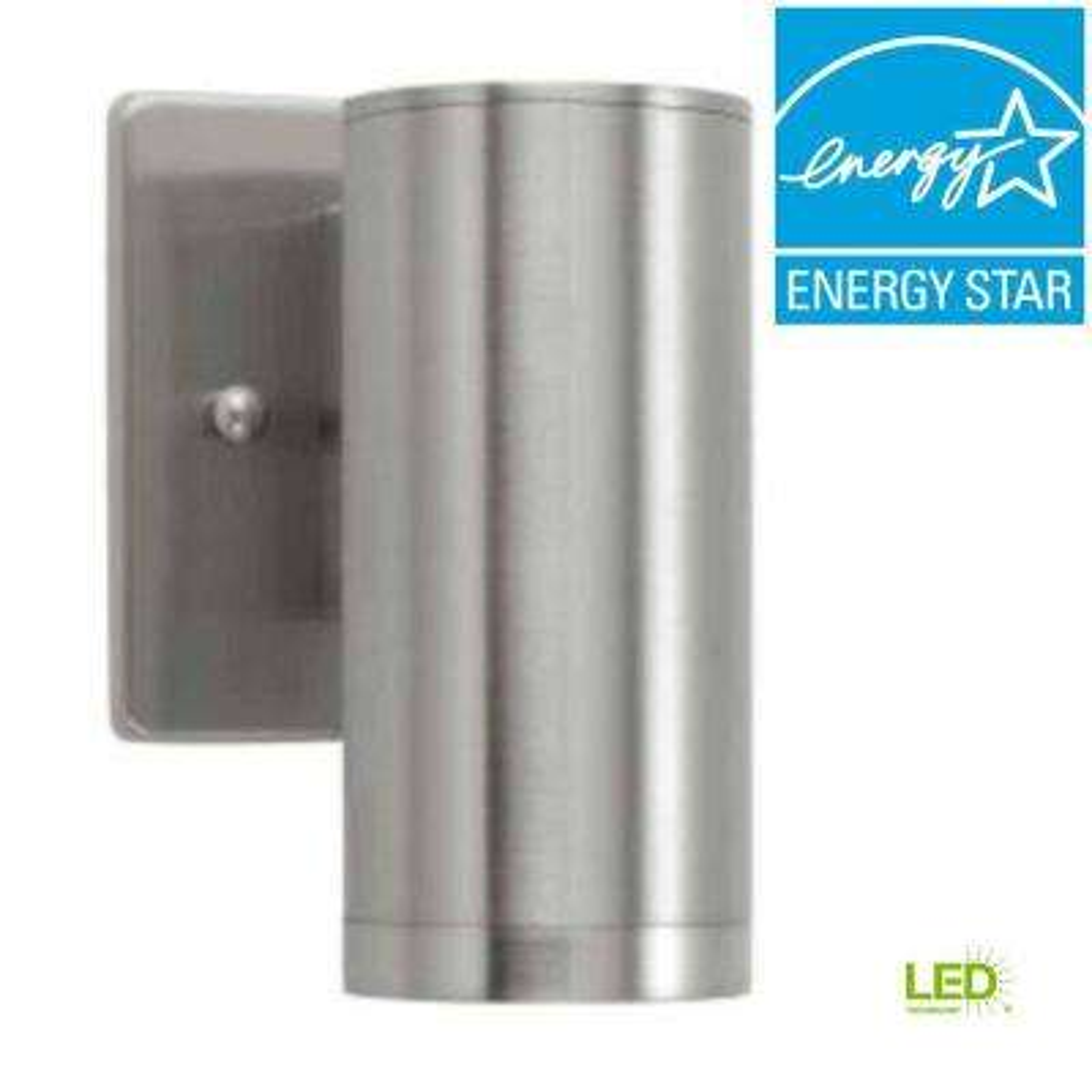 Brushed Nickel Outdoor LED Sconce