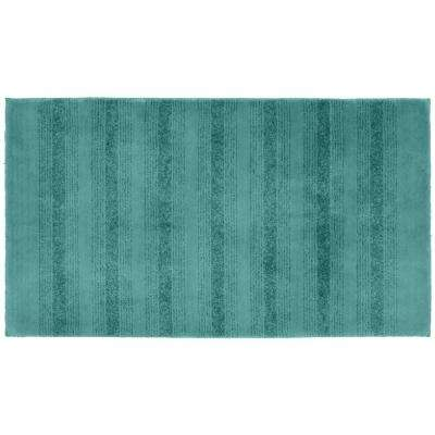 Essence Sea Foam 30 in. x 50 in. Washable Bathroom Accent Rug
