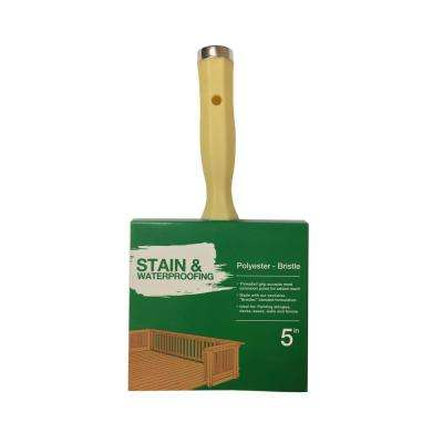 5 in. Polyester Blend Stain and Waterproofing Block Brush