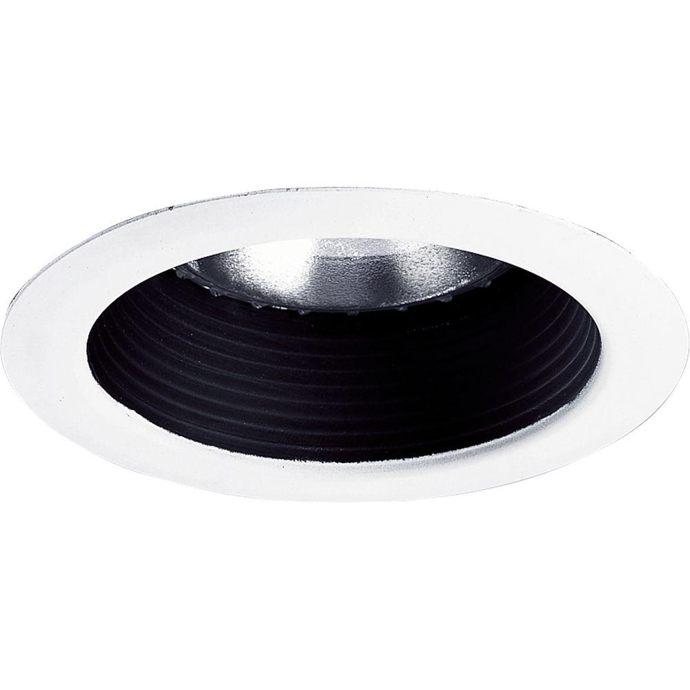 Progress Lighting 5 In Black Recessed Step Baffle Trim P8175 31 The Home Depot