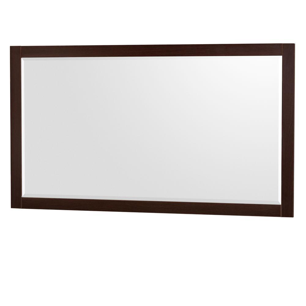 Daniella 58 in. W x 33 in. H Framed Wall Mirror in Espresso