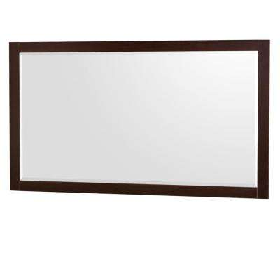 Daniella 58 in. W x 33 in. H Framed Wall Mirror in Espresso
