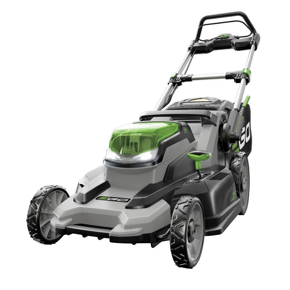 Reconditioned 20 in. 56V Lith-Ion Cordless Walk Behind Push Mower, Battery