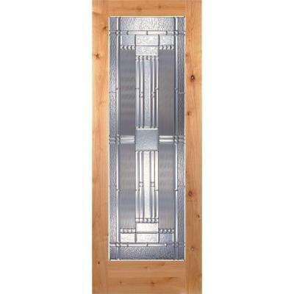 Preston Zinc Woodgrain 1 Lite Unfinished Cherry Interior Door Slab