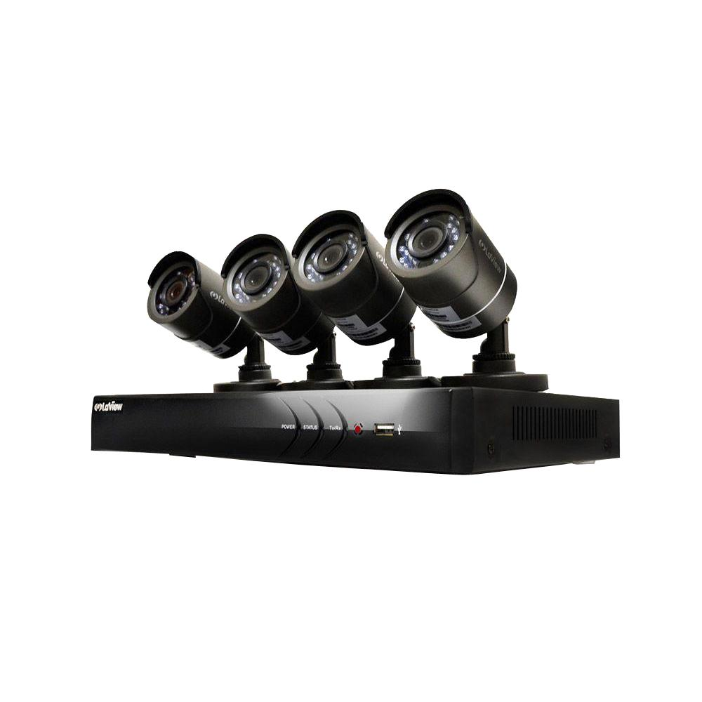 LaView 4-Channel HD 1TB HDD Indoor/Outdoor Surveillance System and ...