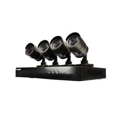 4-Channel HD 1TB HDD Indoor/Outdoor Surveillance System and (4) 720P Camera PTZ Compatible Remote Viewing