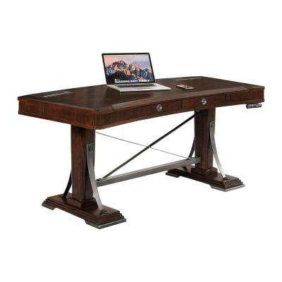 Highland Park 66 In. Merlot Sit U0027N Stand Desk