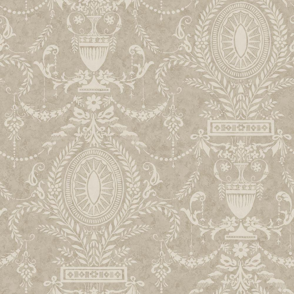 York Wallcoverings American Classics Neoclassical Urn Wallpaper