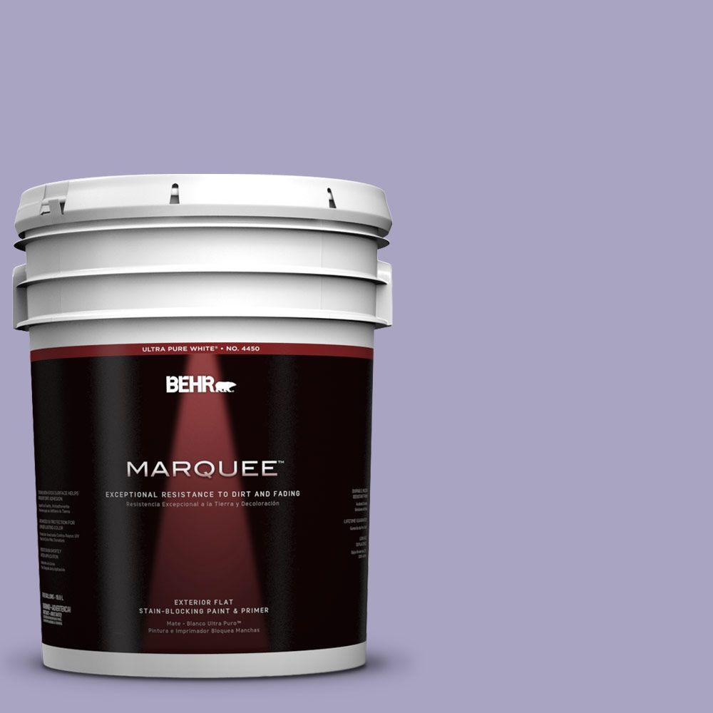 BEHR MARQUEE 5-gal. #640D-4 Canyon Mist Flat Exterior Paint