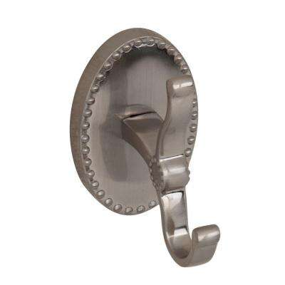 Cordelia Single Robe Hook in Satin Nickel