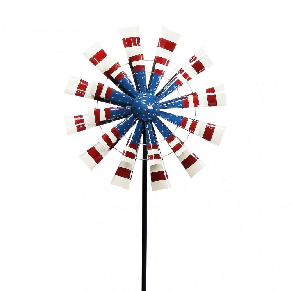 Small Patriotic Metal Windmill