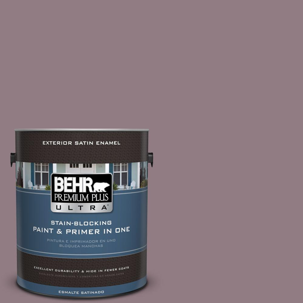 BEHR Premium Plus Ultra 1-gal. #100F-5 Gypsy Magic Satin Enamel Exterior Paint