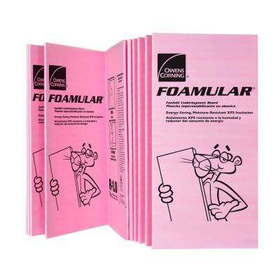 FOAMULAR 1/4 in. x 4 ft. x 50 ft. R-1 Fanfold Underlayment Rigid Foam Board Insulation Sheathing