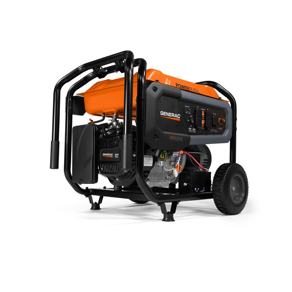 Generac 8000-Watt Gasoline Powered Portable Generator with Electric Start