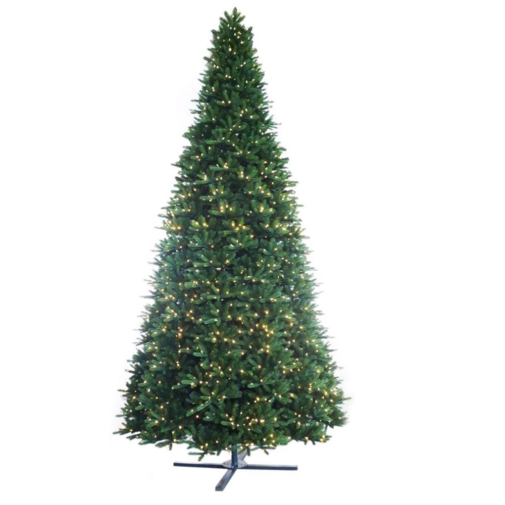 Martha Stewart Living 15 ft. Pre-Lit LED Regal Fir Artificial Christmas Tree with Dual Function Lights