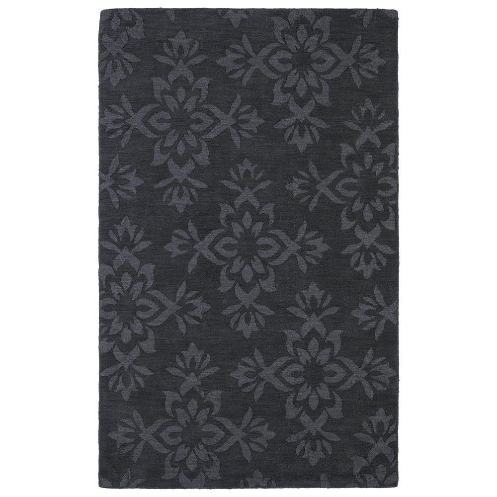 Imprints Classic Charcoal 8 ft. x 11 ft. Area Rug