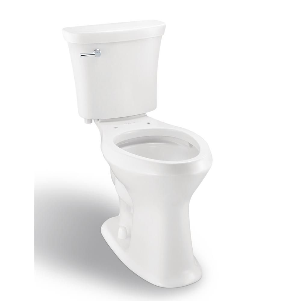 SuperClean 2-piece 1.28 GPF Single Flush Elongated Toilet in White