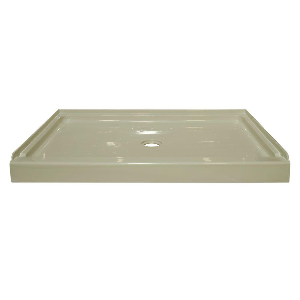 Lyons Industries Elite 60 in. x 34 in. Single Threshold Shower Base with Center Drain in Biscuit