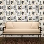 Advantage 56.4 sq. ft. Rumer White Gallery Wall Wallpaper