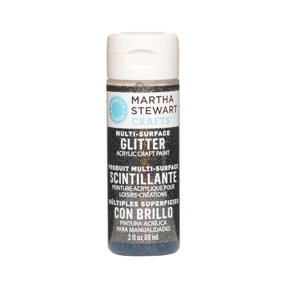Martha Stewart Crafts 2-oz. Onyx Multi-Surface Glitter Acrylic Craft Paint