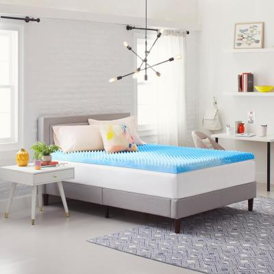 3 in. Reversible Convoluted Queen Size Memory Foam Mattress Topper