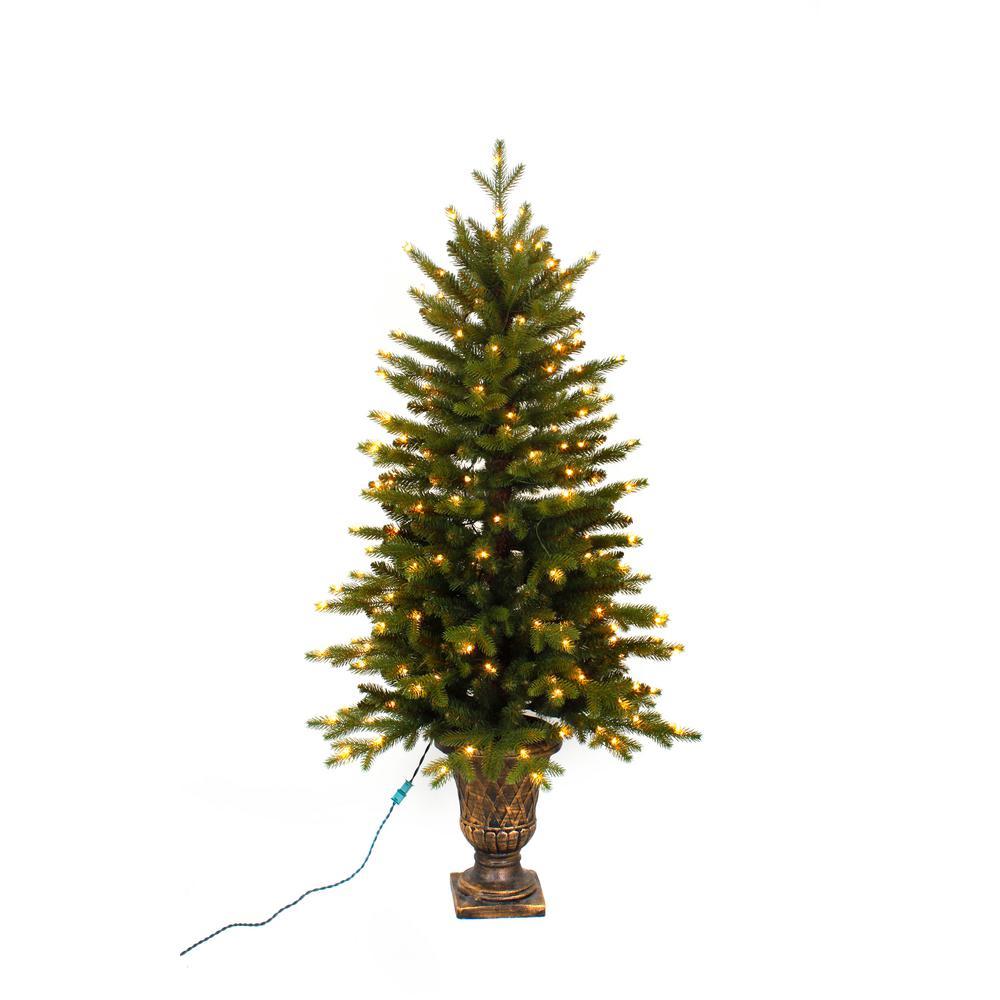 Christmas Tree Pre Lit Led Micro Dot Lights Potted