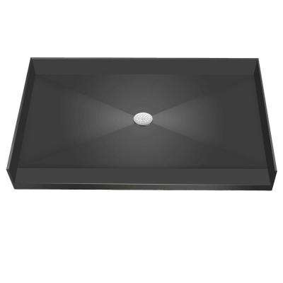 37 in. x 63 in. Barrier Free Shower Base with Center Drain