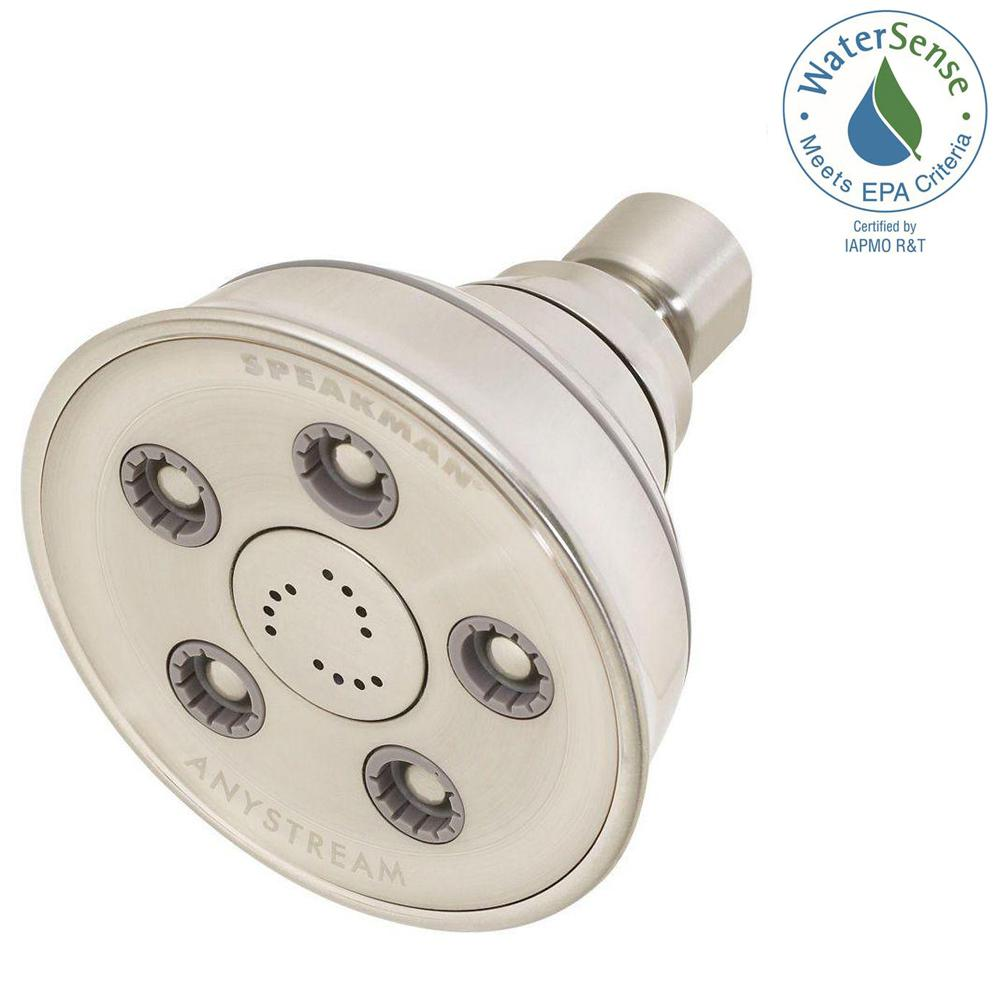 Speakman Anystream Caspian 3-Spray 3.75 in. 2.0 GPM Fixed Showerhead in Brushed Nickel