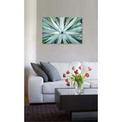 "15 in. x 10 in. 'Plant Flower Illusion"" by ""Oliver Gal"" Printed Framed Canvas Wall Art"