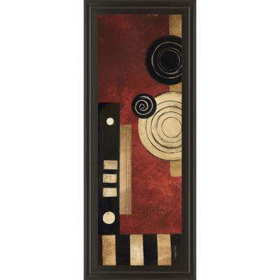 "18 in. x 42 in. ""Radius Panel II"" by Kimberly Poloson Framed Printed Wall Art"
