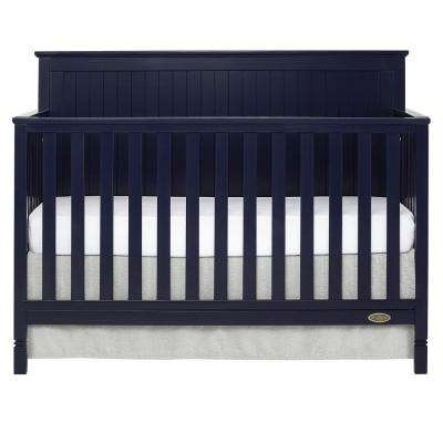 Alexa Navy 5-in-1 Convertible Crib