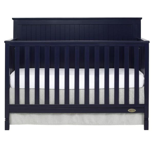 Dream On Me Alexa Navy 5 In 1 Convertible Crib 728 Nvy The Home Depot