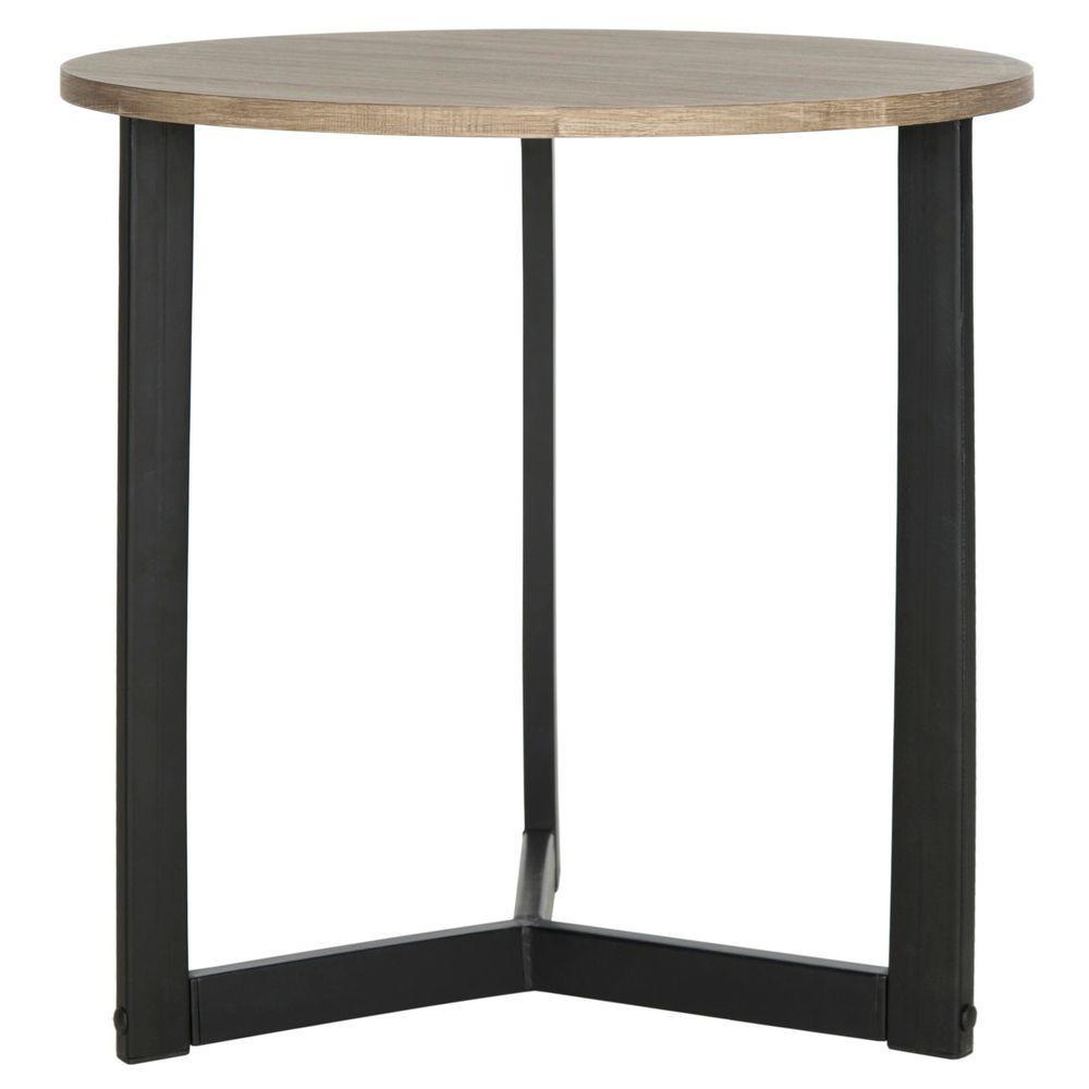 Ballard Oak and Black Storage End Table