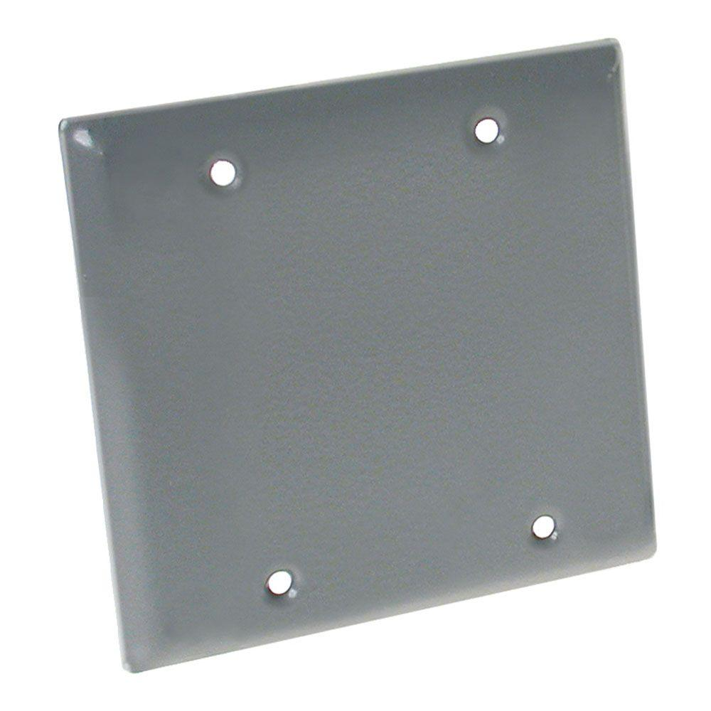 HUBBELL WIRING 2-Gang Weatherproof Gray Blank Cover-5175-0B - The ...
