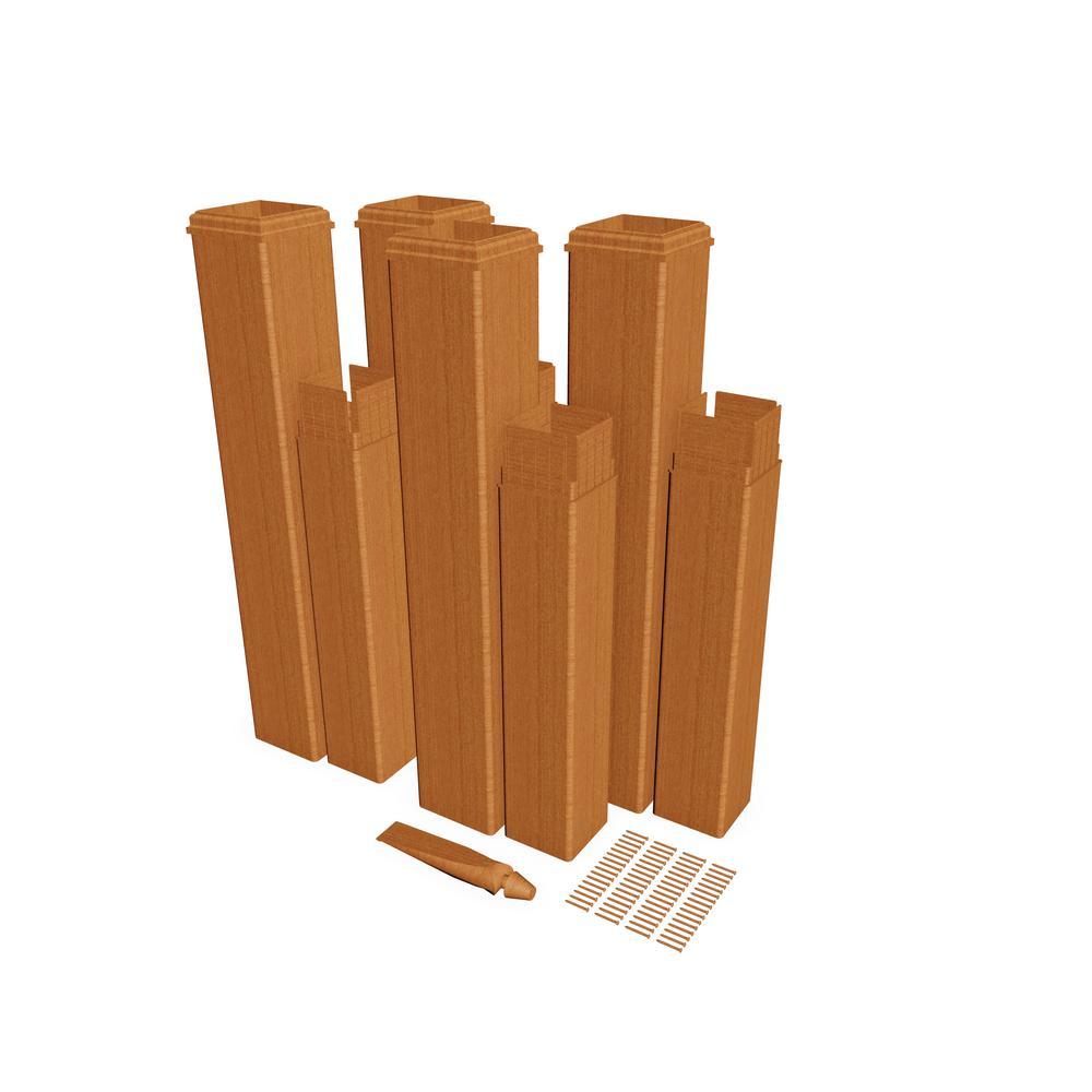 New England Arbors 24 in. Cedar Composite Pergola Post Extension Kit (Pack of 4)