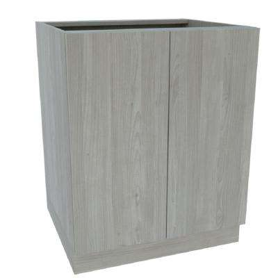 Ready to Assemble 36 in. x 34-1/2 in. x 24 in. Sink Base Cabinet in Grey Nordic Wood