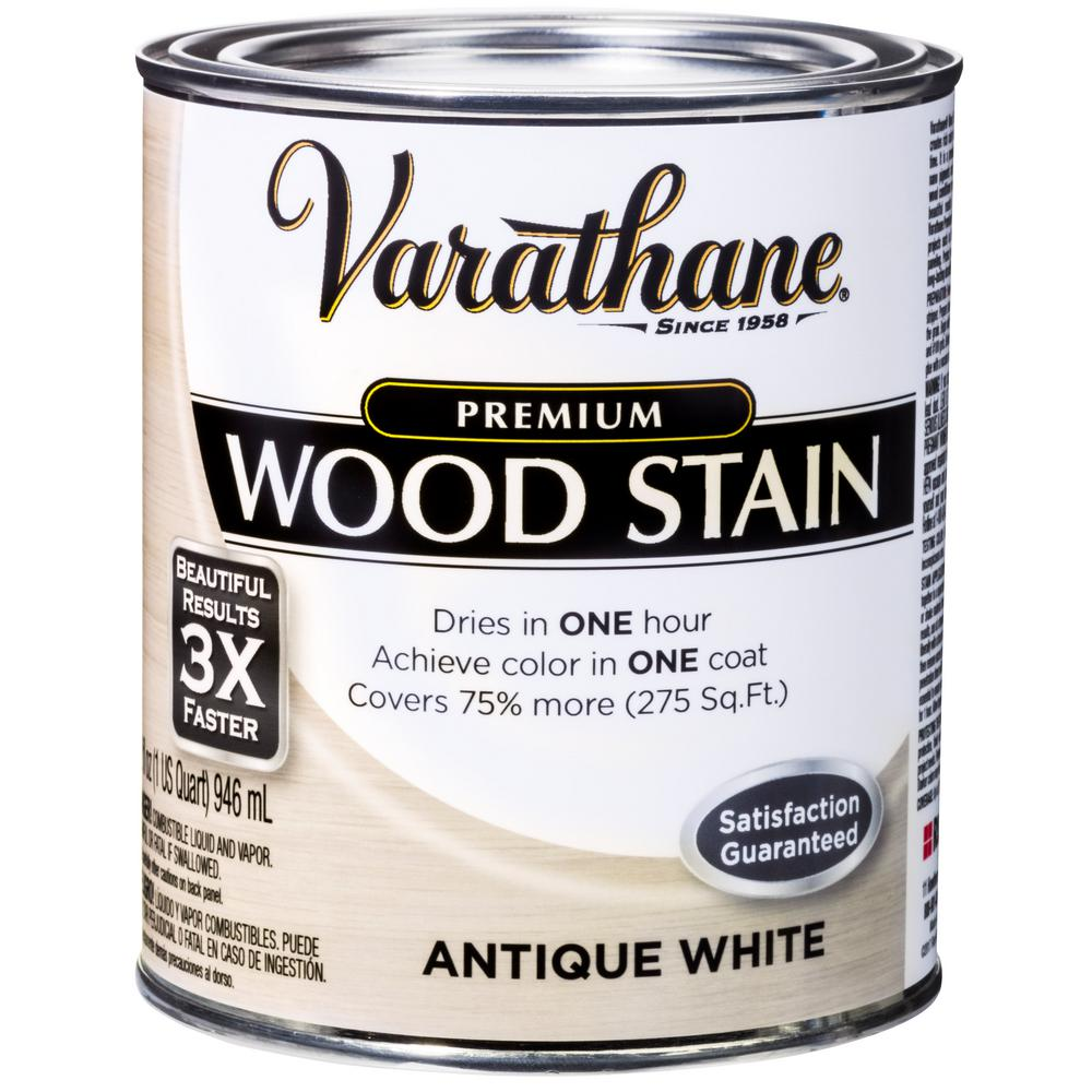 1 qt. Antique White Premium Fast Dry Interior Wood Stain (2-Pack)