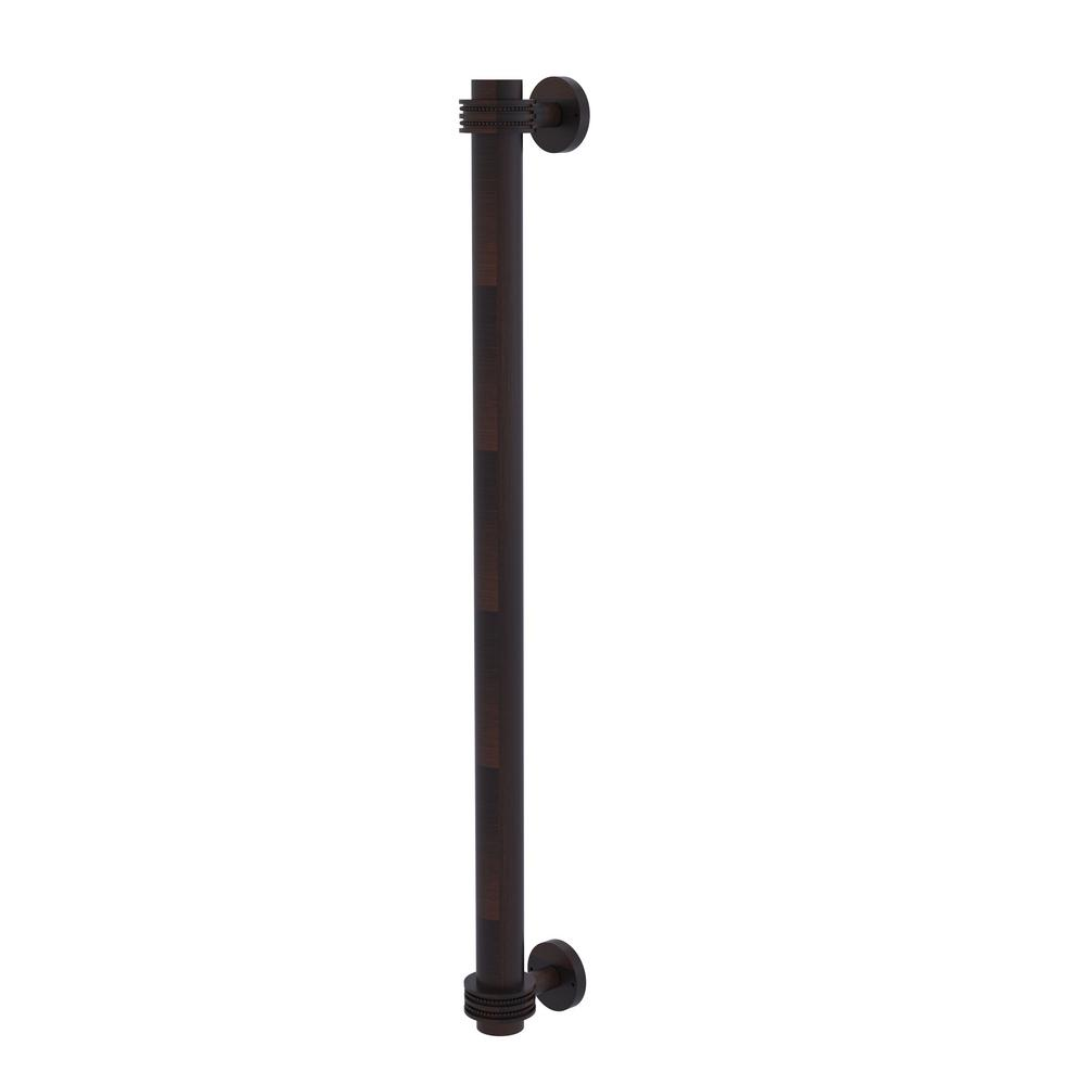 Allied Brass 18 in. Center-to-Center Refrigerator Pull with Dotted Aents in Venetian Bronze Transform your kitchen with this elegant Refrigerator and Appliance Pull. This pull is designed for replacing the pulls or handles on your built-in refrigerator, freezer or any other built in appliance. Appliance pull is made of solid brass and provided with a lifetime finish to insure products will provide a lifetime of service.