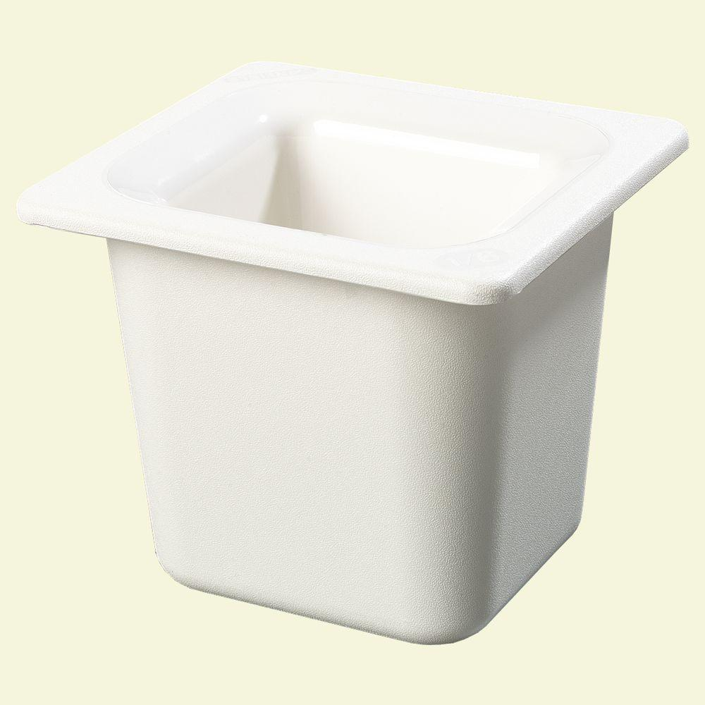 Coldmaster 6 in. Sixth Size Deep White Standard Food Pan