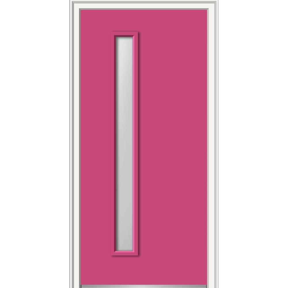 Mmi door 30 in x 80 in viola clear lowe glass right hand for 16 x 80 door