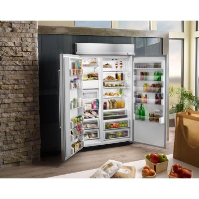 30 cu. ft. Built-In Side by Side Refrigerator in Panel Ready