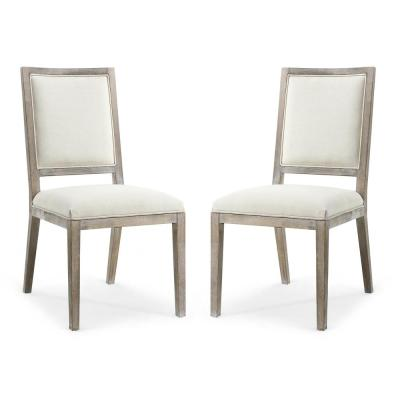 White - Fabric - Dining Chairs - Kitchen & Dining Room ...