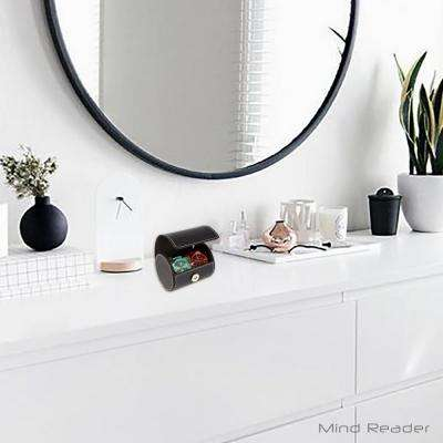 Faux Leather Double Watch Holder