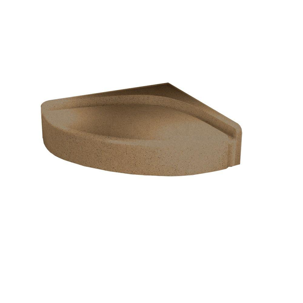 Swanstone Solid Surface Corner-Mount Shower Seat in Barley