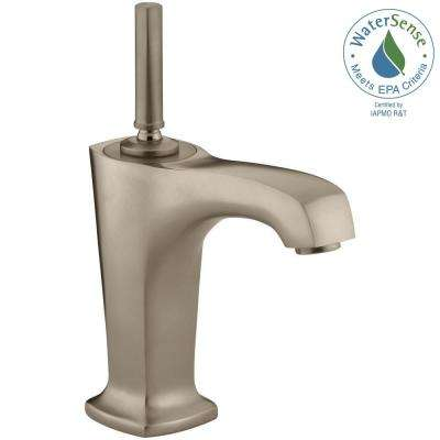 Margaux Single Hole Single Handle Low-Arc Bathroom Vessel Sink Faucet in Vibrant Brushed Bronze